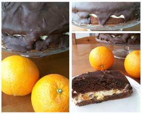 Schoko-Orangentorte mit Mascaponecreme