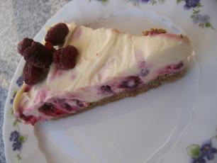Sonntagskuchen: Himbeer Cheesecake mit weißer Schokolade