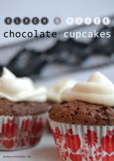 Sonntagskuchen: Black&White Chocolate Cupcakes