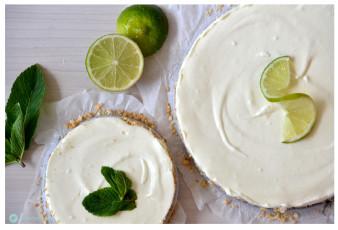 Limetten Cheesecake mit weißer Schokolade