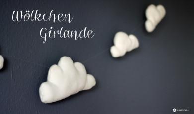 DIY Wölkchen Girlande