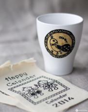 DIY Papier auf Porzellan übertragen