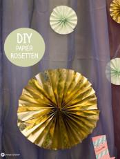 DIY Papierrosetten falten - Sweet Table Hochzeitsdeko