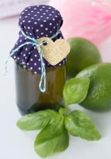 Limettensirup mit Basilikum #sommerimglas