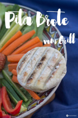 Pita Brote vom Grill