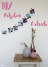 DIY Gutschein Girlande aus Polaroid Fotos