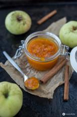 Kürbismarmelade mit Apfel und Ingwer