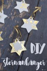 DIY Sternenanhänger mit Gold