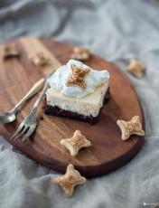 Brownie Cheesecake Schnitten mit Koalas