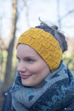 DIY Stirnband mit Schachbrettmuster stricken