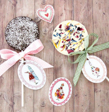 Muttertagsgeschenkidee: Schokoladen Lollis mit leckeren Toppings
