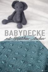 DIY Babydecke mit Knötchen stricken