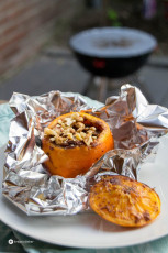 BBQ Rezept: Orangen mit Browniefüllung