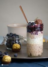 Rocher Blaubeere Trifle