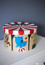 DIY Zirkus Schachtel fürs Kinderzimmer