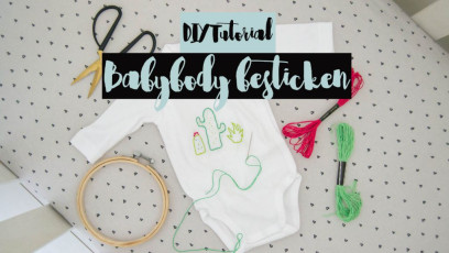 DIY Babybody besticken