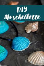 DIY Muschelkette mit Metalliceffekt