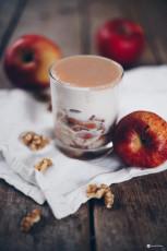 Karamellmousse mit Apfel