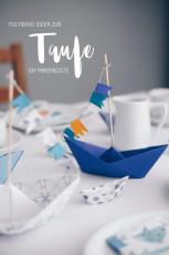 DIY Tischdeko zur Taufe mit Booten