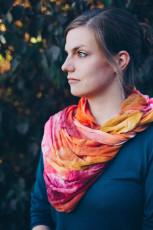 DIY Loopschal mit Seidenfarben färben