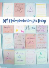 DIY Meilensteinkarten für Babys
