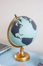 DIY Globus bemalen