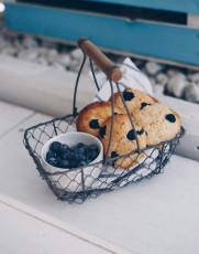 Zitronen-Cookies mit Blaubeeren