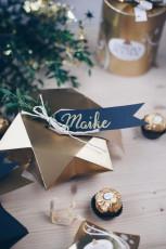 DIY Geschenkschachtel falten in Sternform