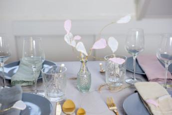 DIY Papierblüten mit Golddraht