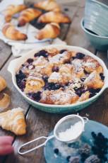 Croissant Auflauf mit Beeren