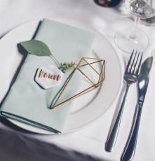 DIY Hexagon Tischkärtchen aus Marmor
