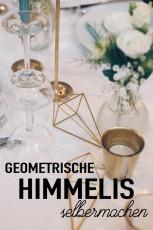 Geometrische goldene Himmelis selbermachen – Hochzeits DIY