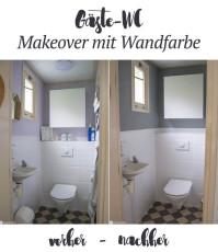 Gäste-WC-Makeover mit Kalkfarbe