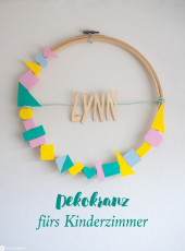 DIY Dekokranz fürs Babyzimmer