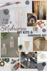 12 moderne DIY Makramee Sets
