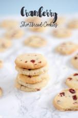 Cranberry Shortbread Kekse