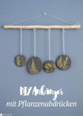 DIY Anhänger mit Pflanzenabdrücken