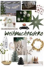 Schlichte skandinavische Weihnachtsdeko