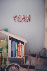 DIY Pompom Buchstaben als Kinderzimmerdeko
