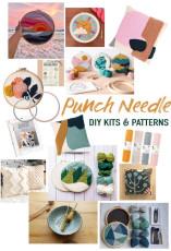 Über 15 moderne Punch Needle DIY Sets und Muster
