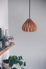 DIY Plissee Lampenschirm aus Kork mit Lederkabel