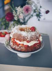 Erdbeer-Kokos-Gugelhupf