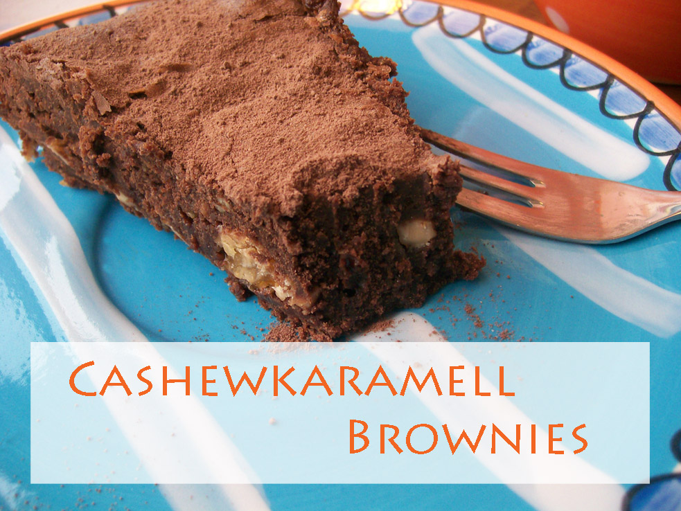 cashewkaramell brownies
