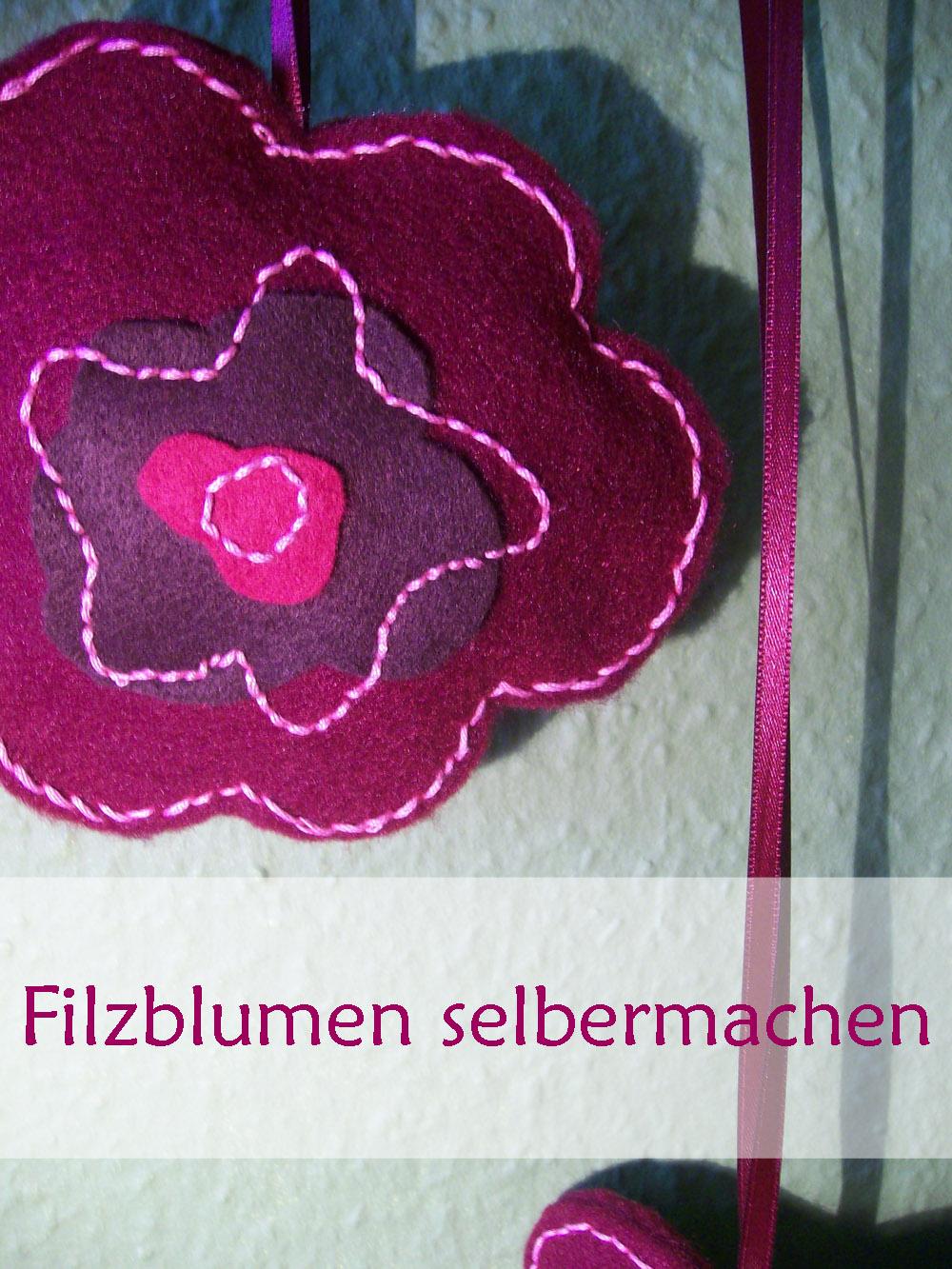 filzblumen selbermachen