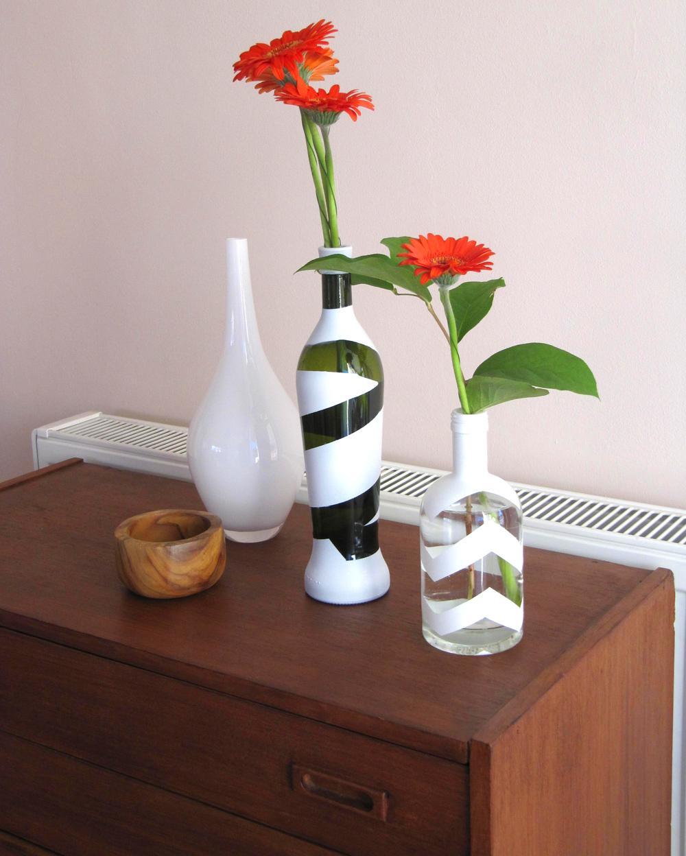 dekorative flaschenvasen selbermachen teil 2 diy tutorial. Black Bedroom Furniture Sets. Home Design Ideas