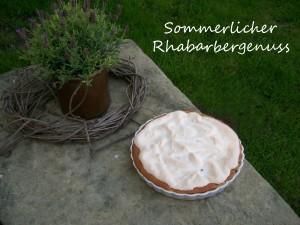 Rhabarber Baiser Torte