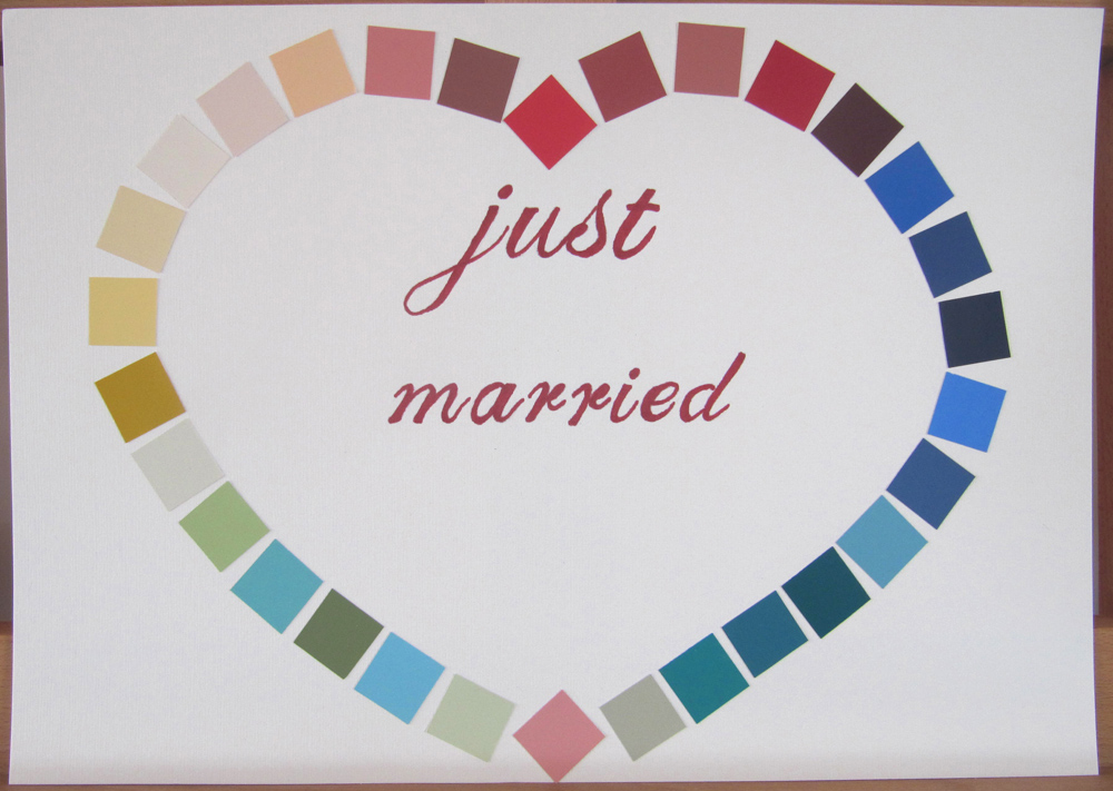 just married plakat