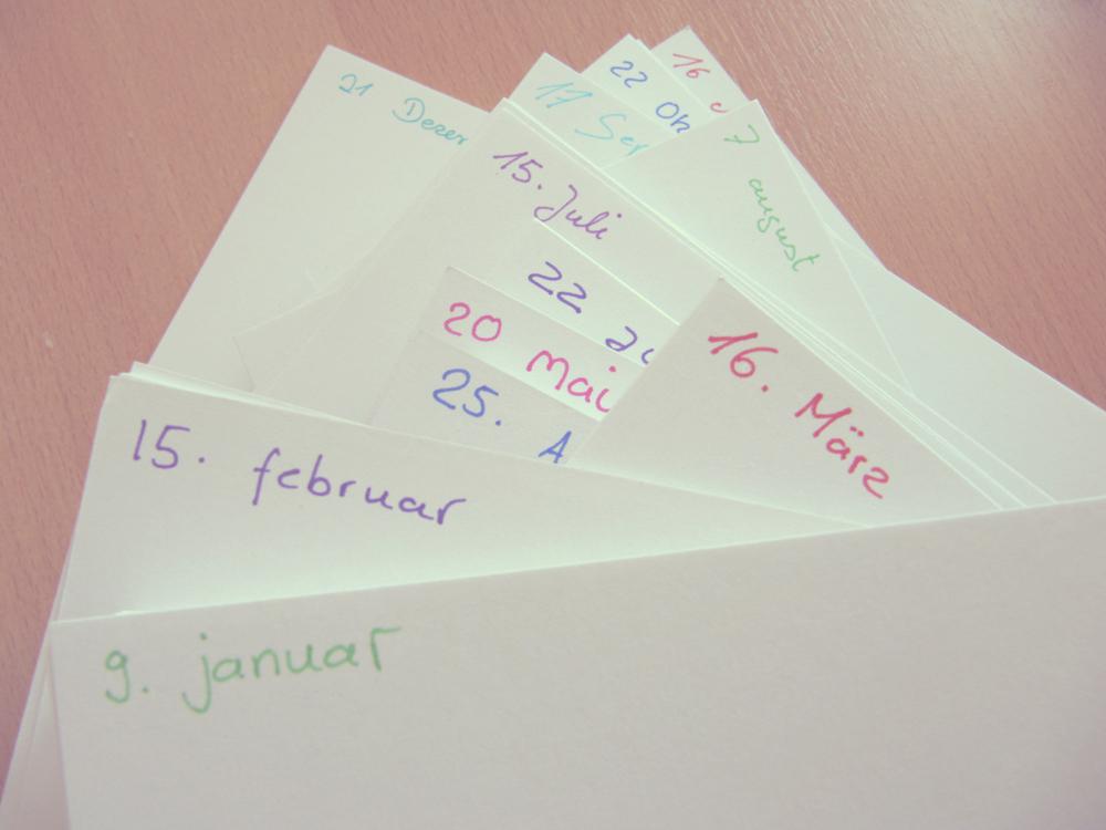 Kleine Momente Kalender Diy Ewiger Kalender Selbermachen