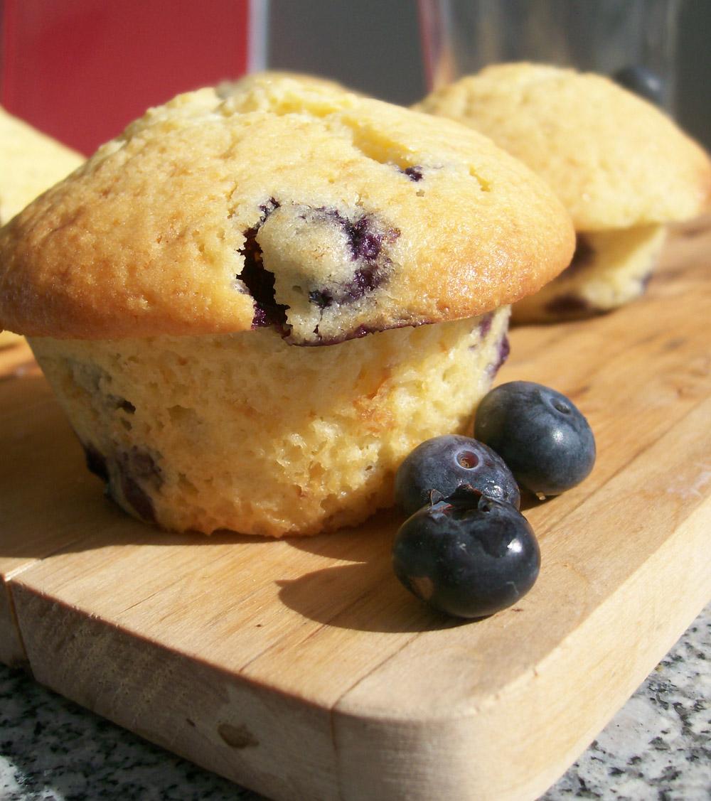 blaubeer frischkäse muffin