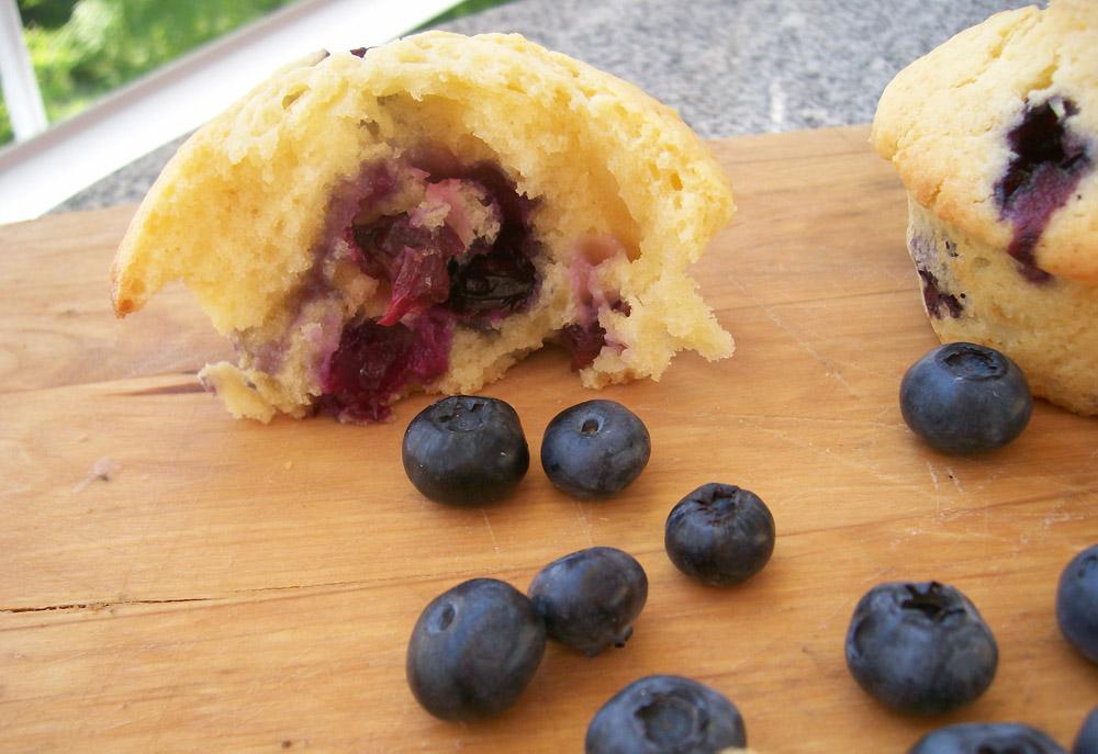 blaubeer-frischkäse-muffins innen